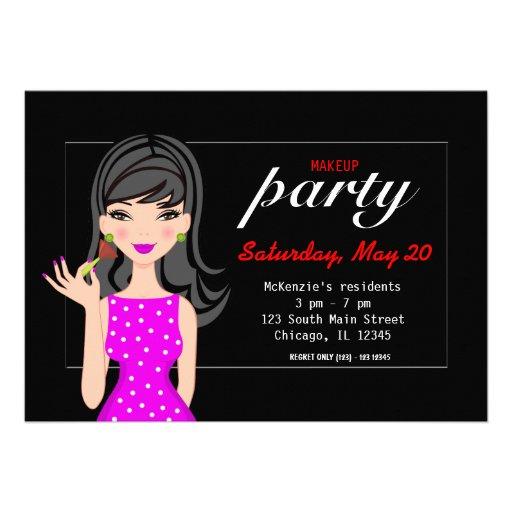 Makeup Party Custom Invites