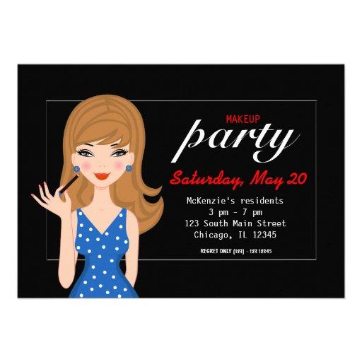 Makeup Party Custom Invitation
