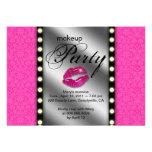Makeup Party Invitation Advertisement Mirror