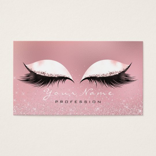 Makeup Silver Pink Rose White Glass Lashes Glitter
