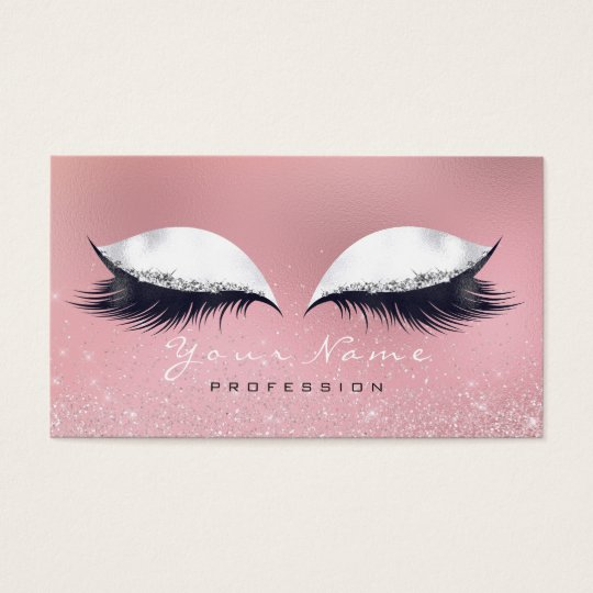 Makeup Silver Pink White Glass Lashes Glitter VIP