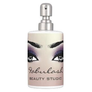 Makeup Violet Eye Lashes Beauty Studio Makeup Pink Bathroom Set