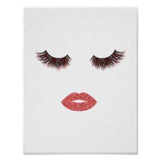 Makeup with glitter effect poster