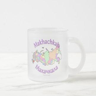 Makhachkala Russia 10 Oz Frosted Glass Coffee Mug