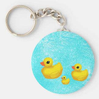 Makin a Splash Rubber Ducky Keychain
