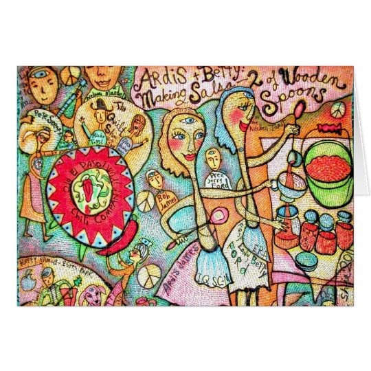 Makin' Salsa Greeting Card