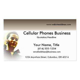 Making a Call Cellular/Wireless Business Cards
