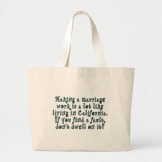 Making a marriage work is a lot like... jumbo tote bag