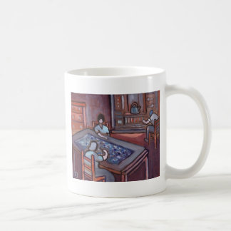 MAKING A PROGGY MAT COFFEE MUGS