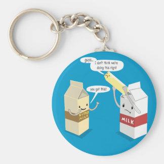 Making Butter Milk Basic Round Button Key Ring