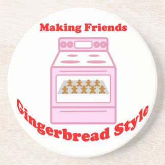 Making Friends Gingerbread Style Beverage Coasters