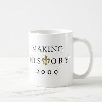 MAKING HISTORY 2009 WHODAT NATION BASIC WHITE MUG