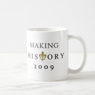 MAKING HISTORY 2009 WHODAT NATION COFFEE MUG