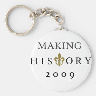 MAKING HISTORY 2009 WHODAT NATION KEY RING