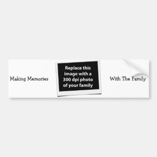 Making Memories With The Family Custom Photo Bumper Sticker