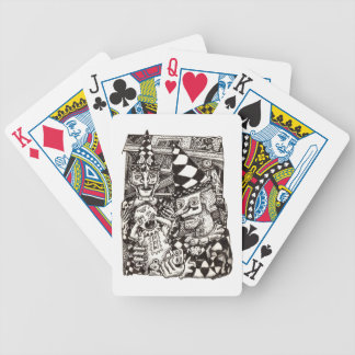 Making-of-the-man by bicycle playing cards