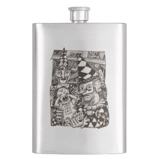 Making-of-the-man by Brian Benson Hip Flask
