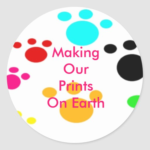 Making Our Prints On Earth Sticker