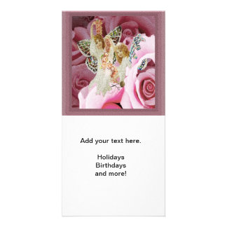 Making Rose Necklaces Personalized Photo Card