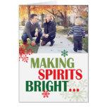 Making Spirits Bright Photo Card Folded