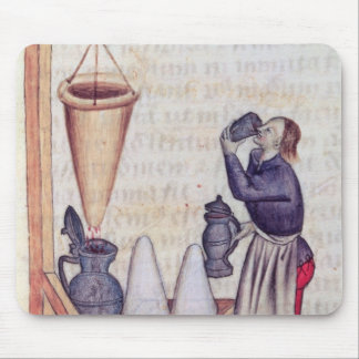 Making sugar syrup, from 'Tractatus de Herbis' Mouse Mat