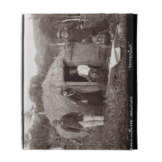 Making Tappa, a native cloth, c.1875 (sepia photo) iPad Folio Cases