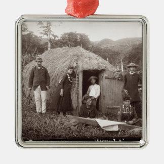 Making Tappa, a native cloth, c.1875 (sepia photo) Christmas Ornament