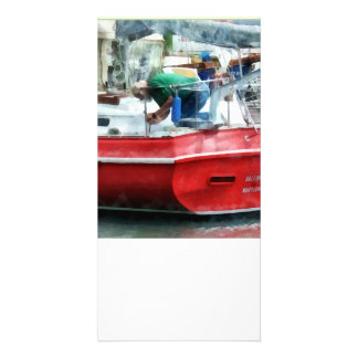 Making the Boat Shipshape Photo Greeting Card