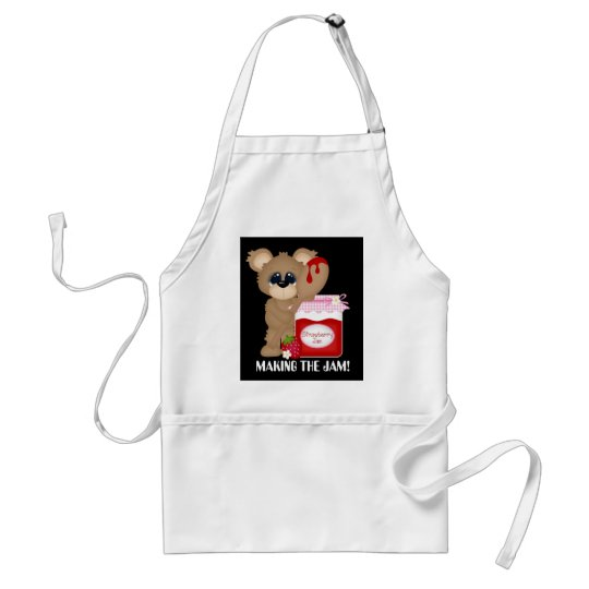 Making the jam cute kitchen bear add name