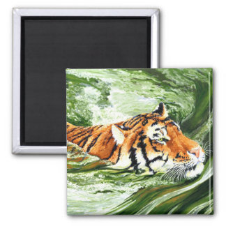 Making Waves - Swimming Tiger Magnet