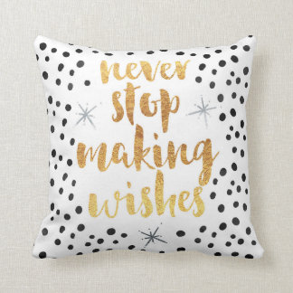 Making Wishes Quote Throw Pillow