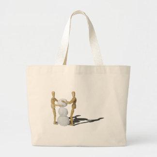 MakingSnowmanTogether101115.png Jumbo Tote Bag