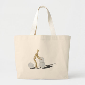 MakingSnowmanTwoPieces101115.png Jumbo Tote Bag