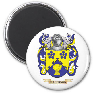 Makinson Coat of Arms (Family Crest) 6 Cm Round Magnet