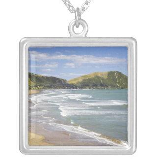 Makorori Beach near Gisborne, Eastland, New 2 Silver Plated Necklace