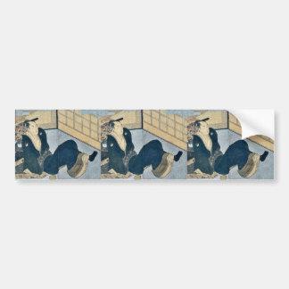 Makura ehon no iichib by Kitagawa, Utamaro Ukiyoe Bumper Sticker