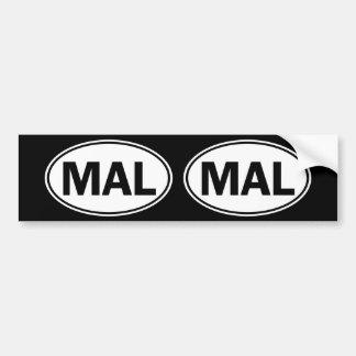 MAL Oval Identity Sign Bumper Sticker