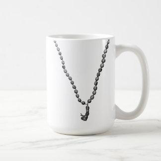 Mala Beads (Black & White) Mug
