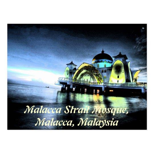 Malacca Strait Mosque, Malacca, Malaysia Postcard