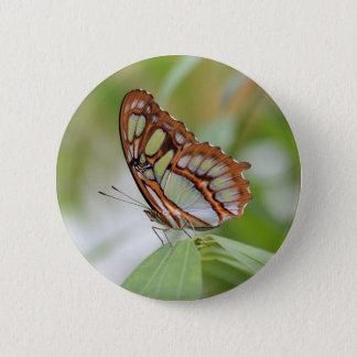Malachite 6 Cm Round Badge