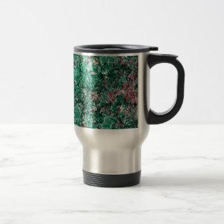 Malachite and copper travel mug