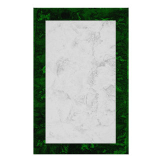 Malachite and marble stationery