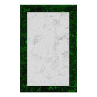Malachite and marble customised stationery
