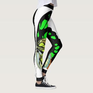 Malachite butterfly leggings