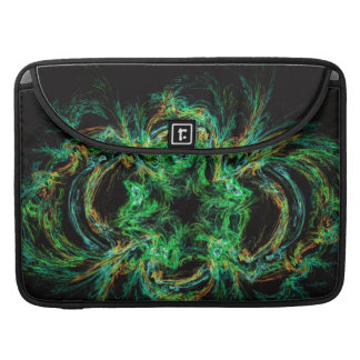 Malachite fractal as a slice of decorative stone sleeve for MacBooks