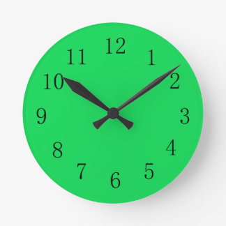 Malachite Green Color Wall Clock