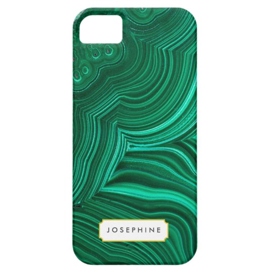 Malachite Slice Mineral Stone Pattern iPhone 5 Cases