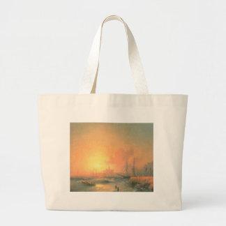 Malaga by Ivan Aivazovsky Jumbo Tote Bag