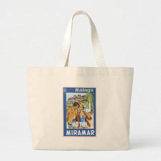 Malaga Hotel Miramar Canvas Bags