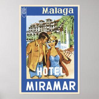 Malaga Hotel Miramar Poster